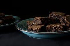 Kokosnotenchocolade Brownies Royalty-vrije Stock Afbeeldingen