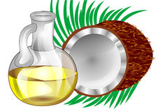 Kokosnotenolie Royalty-vrije Stock Foto