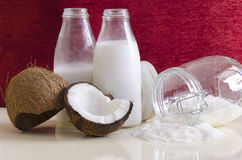 Kokosnotenproducten Royalty-vrije Stock Afbeelding