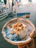 Kokosnotenroomijs Stock Foto's