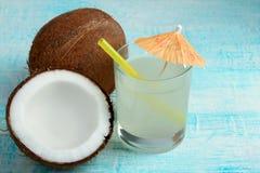 Kokosnotensap Stock Foto's