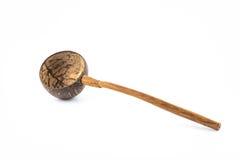 Kokosnotenshell gietlepel Royalty-vrije Stock Afbeelding