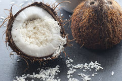 Kokosnotenvlokken Stock Afbeelding