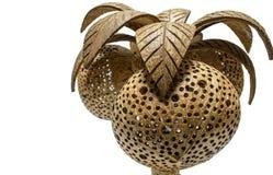 Kokosnötlampa Arkivbild