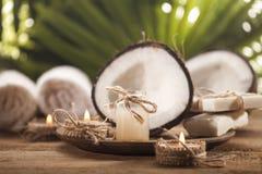 Kokosnussätherisches öl Stockfoto