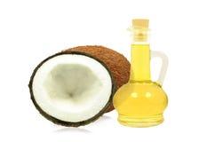 Kokosnussöl stockfotos