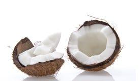 Kokosnuss auf einem weißen Hintergrund Lizenzfreies Stockbild