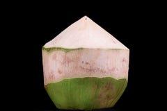 Kokosnuss auf schwarzem Hintergrund Lizenzfreie Stockbilder