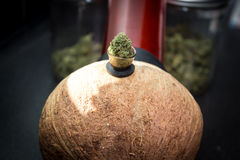 Kokosnuss Bong Lizenzfreies Stockfoto