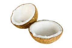 Kokosnuss für das Schmierölvorbereiten Lizenzfreies Stockfoto