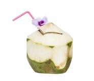 Kokosnuss lokalisiert auf Weiß Stockfoto
