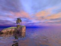 Kokosnuss-Palmen-Insel lizenzfreies stockbild
