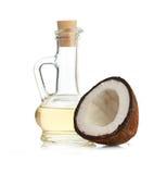 Kokosnuss und Schmieröl Lizenzfreies Stockbild