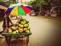 Kokosnuss-Verkäufer stockfotos