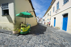 Kokosnuss-Wasser-Stand Salvador Brazil Lizenzfreie Stockbilder