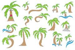 Kokosnussbaum Lizenzfreie Abbildung