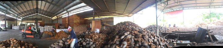 Kokosnussfabrik Lizenzfreie Stockbilder