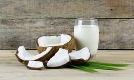 Kokosnussfrucht und -milch Lizenzfreie Stockfotografie