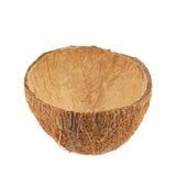 Kokosnussfruchtoberteil geschnitten zur Hälfte Lizenzfreie Stockfotos