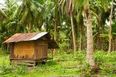 Kokosnusslandhaus Stockfotos