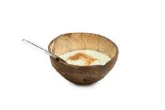 Kokosnussnachtisch mit Zimt Lizenzfreie Stockfotos
