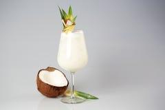 Kokosnusssahnecocktail Stockbild