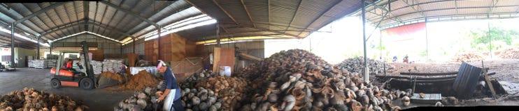 kokosowa fabryka Obrazy Royalty Free