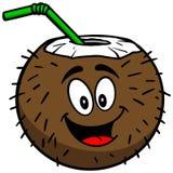 Kokosowa napój maskotka ilustracji