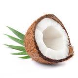 kokosowa połówka Obrazy Stock