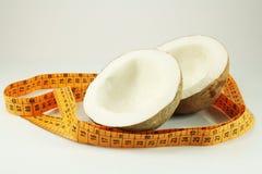 kokosowa pomiarowa taśma Obrazy Stock