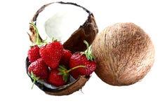 kokosowa truskawka Zdjęcia Royalty Free