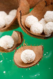 kokosowe trufle zdjęcia stock