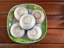 Kokosowego mleka przekąski filiżanki Khan Thuai tajlandzcy tajlandzcy desery stawiają d Obrazy Stock