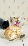 Kokosowej bezy szwajcarska rolka Fotografia Royalty Free
