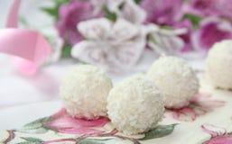 Kokosowi cukierki Zdjęcie Royalty Free