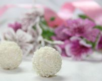 Kokosowi cukierki Fotografia Royalty Free