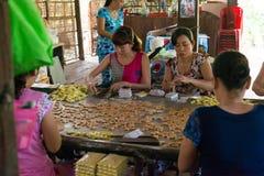 Kokosowi cukierki fabryczni Fotografia Stock