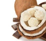 Kokosowi i kokosowi cukierki zdjęcie stock