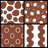 Kokosowi Owocowi Bezszwowi wzory Ustawiający Zdjęcie Stock