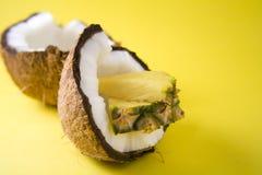kokosowy ananas Zdjęcia Royalty Free