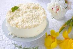 Kokosowy Cheesecake Obraz Royalty Free