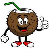 Kokosowy napój z aprobatami ilustracja wektor