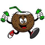 Kokosowy napój z pieniądze ilustracji