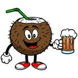 Kokosowy napój z piwem royalty ilustracja