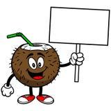 Kokosowy napój z znakiem ilustracja wektor