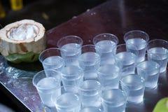 Kokosowy sok, napoju koksu woda Obraz Stock