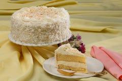 Kokosowy warstwa tort Zdjęcie Stock