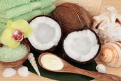 Kokosowy zdroju traktowanie Zdjęcia Royalty Free