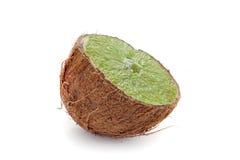 kokosowych owoc hybrydowy wapno zdjęcie stock