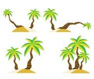 Kokospalm op de zomer vectorontwerp van het zandstrand Royalty-vrije Stock Afbeeldingen